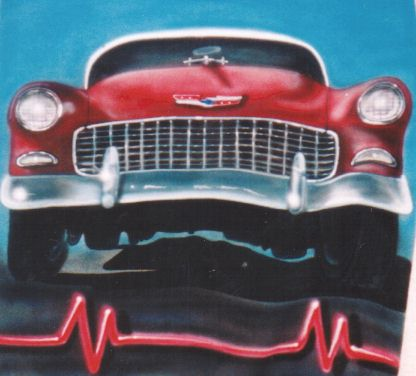 55 chevy airbrush t shirt