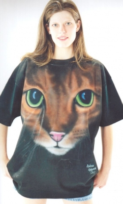 cat airbrush t shirt