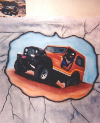 Jeep airbrush t shirt