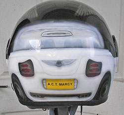 helmet car theme, design