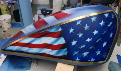 airbrush motoircycle tank