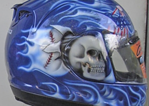 motorcycle helmet flame design