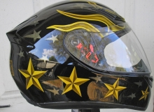 motorcycle helmet cross custom painted design design