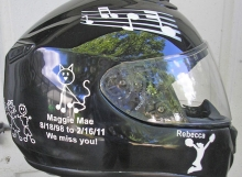 stick figure motorcycle helmet design