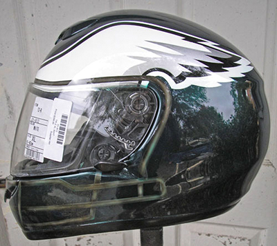 Motorcycle Helmet Eagles Design