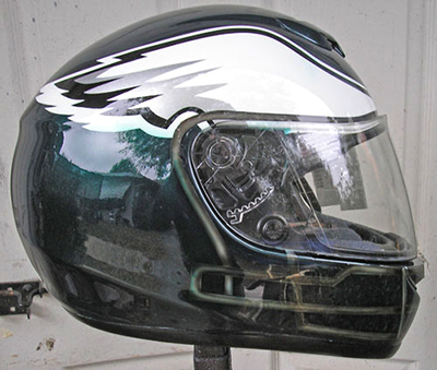 Eagles motorcycle helmet design