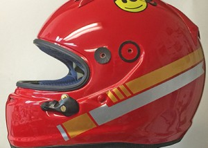 Arai helmet design with simple graphics