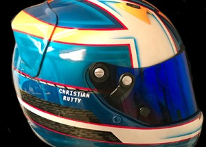 Michael Arai race helmet design
