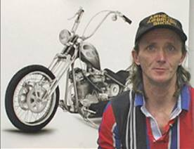 airbrush artist, helmet painter Don Johnson