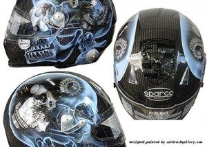 sparco helmet skull design 3