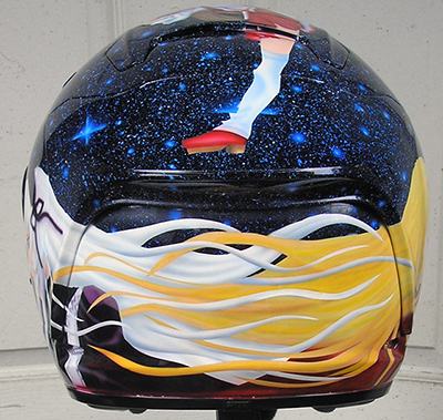 motorcycle helmet anime design