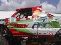 bad news travels fast monster truck mural