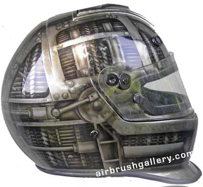 Bell helmet custom painted