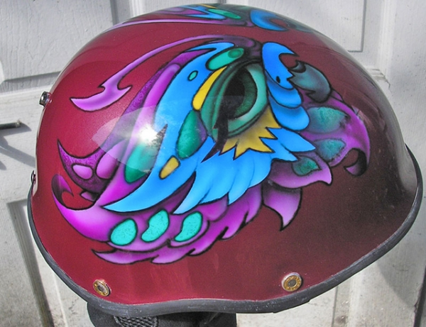 motorcycle helmet butterfly design