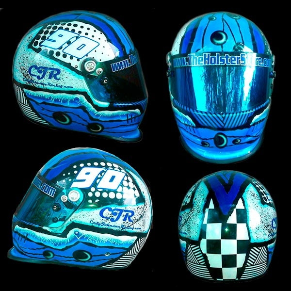 Bell helmet splatter paint design