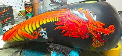 dragon motorcycle tank 3