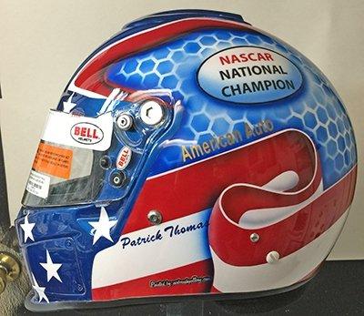 race helmet flag custom design