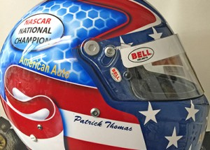 race helmet flag custom design