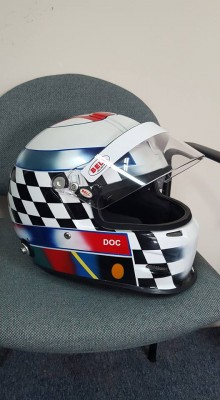 Bell race helmet design