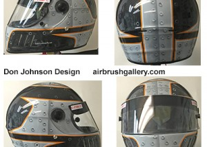 airbrush helmet rivet design