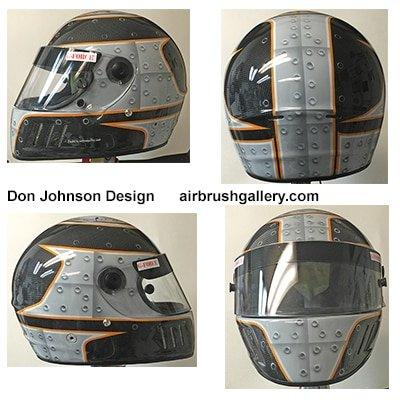 airbrush helmet rivet design