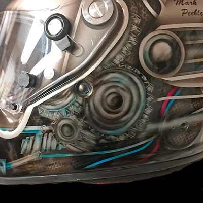 race helmet detail1