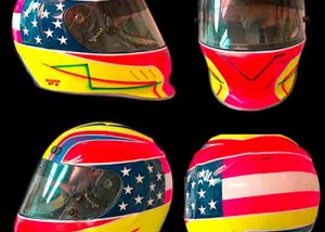 simpson vudo race helmet design