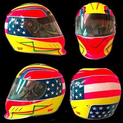 simpson vudo race helmet design