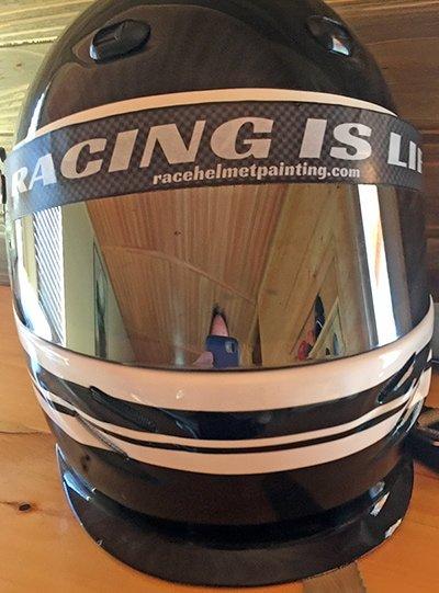 example helmet visor stripe