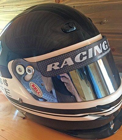 helmet visor stripe example