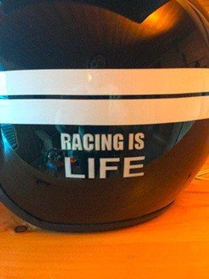 custom paintedopen face race helmet lamp