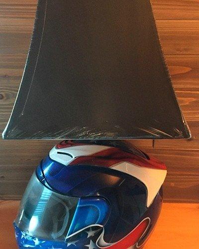 motorcycle helmet lamp custom paint