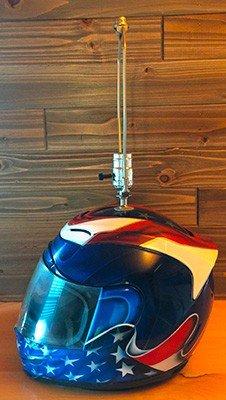 custom motorcycle helmet table top lamp