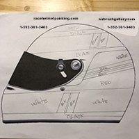 Helmet design rough sketch