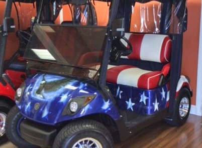 golf cart American flag theme